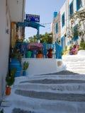 Restaurante griego tradicional de los pescados taverna Mediterranian imagen de archivo
