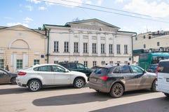Restaurante Gusyatnikoff complexo, rua de Alexander Solzhenitsyn, 2A Séculos anteriores da propriedade XVIII-XIX da cidade Imagens de Stock