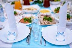Restaurante hermoso de la boda para la boda Imagenes de archivo