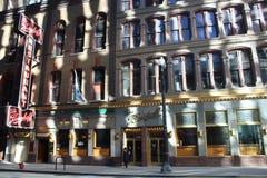 Restaurante histórico de Berghoff en el lazo céntrico de Chicago Fotografía de archivo