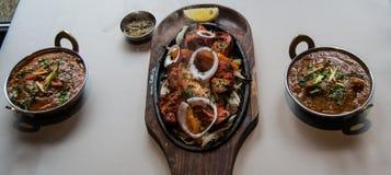 Restaurante indiano e alimento específico indiano Imagem de Stock Royalty Free