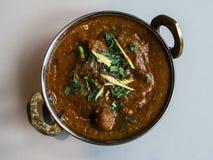 Restaurante indio y comida específica india Imagen de archivo