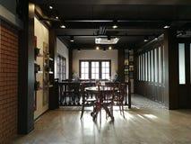 Restaurante interior imagens de stock royalty free