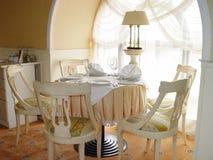 Restaurante interior Fotografía de archivo libre de regalías