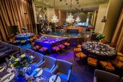 Restaurante interior de lujo Fotografía de archivo