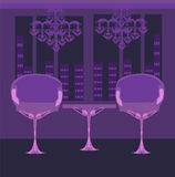 Restaurante interior elegante Fotografia de Stock Royalty Free