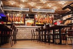 Restaurante italiano à moda fotografia de stock royalty free