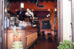 Restaurante italiano Foto de Stock Royalty Free
