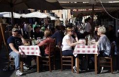 Restaurante italiano Imágenes de archivo libres de regalías