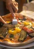 Restaurante italiano de la pizza de la pizzería Imagen de archivo libre de regalías