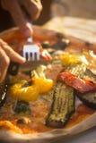 Restaurante italiano de la pizza de la pizzería Fotos de archivo