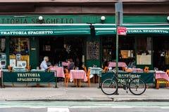 Restaurante italiano no Greenwich Village, New York City fotografia de stock