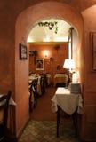 Restaurante italiano romántico Imagen de archivo libre de regalías