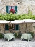 Restaurante italiano tradicional Foto de archivo libre de regalías