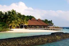 Restaurante maldives de Kurumba Foto de archivo