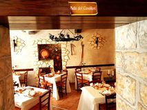 Restaurante medieval fotos de archivo libres de regalías