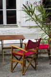 Restaurante mediterrâneo Fotografia de Stock