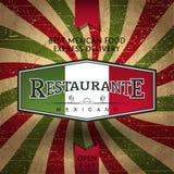 Restaurante mexicano Stock de ilustración