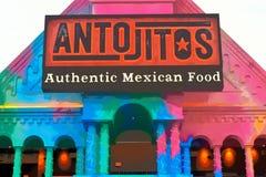 Restaurante mexicano tradicional del estilo en Citywalk Universal Studios fotos de archivo libres de regalías