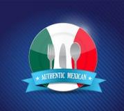 Restaurante mexicano tradicional, menú stock de ilustración