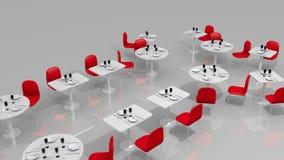 Restaurante moderno ilustração stock