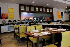 Restaurante moderno Foto de archivo libre de regalías