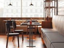 Restaurante moderno del desván representación 3d imagen de archivo