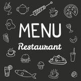 Restaurante moderno del menú Imagen de archivo libre de regalías
