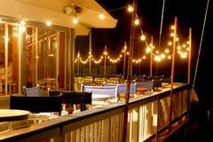Restaurante na noite Foto de Stock Royalty Free