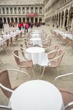 Restaurante na praça San Marco imagem de stock