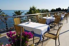 Restaurante na praia Imagens de Stock Royalty Free