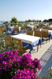 Restaurante na praia Fotografia de Stock