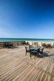 Restaurante na praia Imagem de Stock Royalty Free