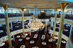 Restaurante no cruzeiro Fotos de Stock Royalty Free