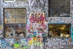Restaurante no Hosier Lane, Melbourne Fotos de Stock Royalty Free