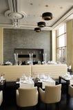 Restaurante no hotel de luxo Imagem de Stock