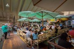 Restaurante no Municipal municipal de Mercado do mercado em Sao Paulo do centro - Sao Paulo, Brasil Imagens de Stock Royalty Free