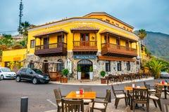 Restaurante no ponto de vista perto de Garachico, Tenerife fotografia de stock royalty free