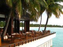 Restaurante no recurso maldivo Imagem de Stock