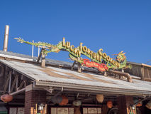 Restaurante pacífico do cais, parque da aventura de Disney Califórnia fotografia de stock royalty free