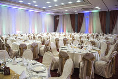 Restaurante para las bodas Imagenes de archivo