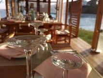 Restaurante pelo mar Imagens de Stock