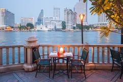 Restaurante, península do hotel, Banguecoque Foto de Stock Royalty Free