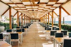 Restaurante perto da praia teste padrão da geometria Fotos de Stock