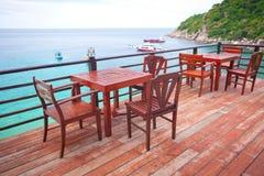 Restaurante perto do mar Imagens de Stock Royalty Free
