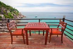 Restaurante perto do mar Imagem de Stock