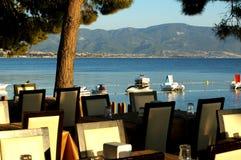 Restaurante perto do mar Fotografia de Stock Royalty Free
