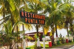 Restaurante Punta Sur, San Andrés stock afbeelding