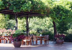 Restaurante que janta ao ar livre Imagens de Stock