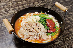 Restaurante quente japonês do potenciômetro fotos de stock
